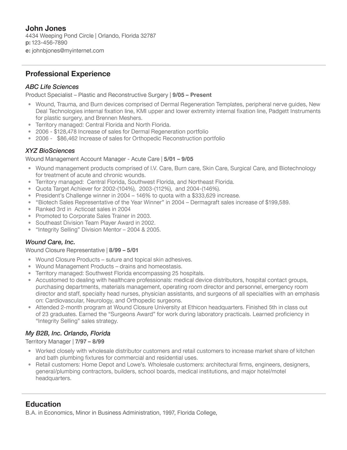 resume summary for freshers